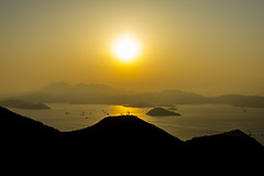 sunset (Greg Rohan) Tags: photography orangesunset hongkong mountain landscape sunset sky orange d7200 2017 china asia