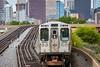 Heading North (jeff_a_goldberg) Tags: trainstation elevatedtrain summer cta l chicago traintracks illinois unitedstates us