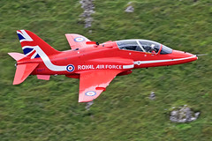 RAF Hawk T1, Red Arrow, Cad West, LFA7, 3/7/17 (TheSpur8) Tags: aircraft date hawk trainers lowlevel special 2017 landlocked t1 skarbinski northwales uk military cadwest redarrows display anationality places transport