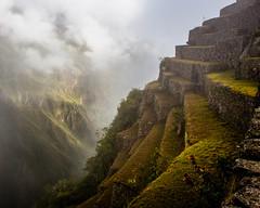 Terraces (Desi595) Tags: peru terrrace hillside clouds mountain green machu picchu landscape