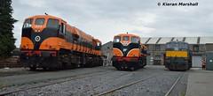 071, 073 and 077 at Inchicore, 7/7/17 (hurricanemk1c) Tags: railways railway train trains irish rail irishrail iarnród éireann iarnródéireann dublin inchicore 2017 retrotrain irishrail30 iarnródéireann302general motorsgmemd071073077irish tippex 1987