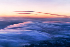 Skyscape I -Above the Clouds (Terry Pellmar) Tags: texture digitalart digitalpainting clouds sunset rockies hills