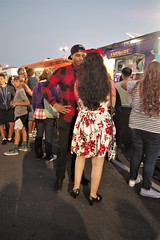 Woman In Floral Dress (Joey Z1) Tags: womaninfloraldress summernights warmsummernight photojournalism streetscene urbanlife laasseenbyjoeyz1 lalife portoflosangeles pola foodtrucks lafoodtrucks waitinginline sola urbanscene starsstripescelebration polychromatic pentaxks1 bylaphotolaureatejoeyzanotti
