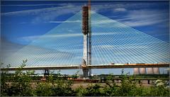 Mersey Gateway Project ( 410 foot Southern Pylon) 1st July 2017 (Cassini2008) Tags: merseygatewayproject cablestayedroadbridge bridgeconstruction rivermersey runcorn wiggisland