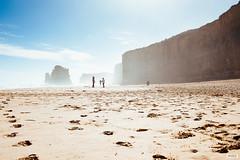 Footsteps on the Beach (The Hobbit Hole) Tags: australia d700 nikon melbourne greatoceanroad 2470mmf28g