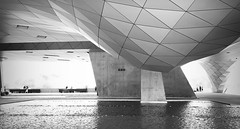 Musée des Confluences (nathaliedunaigre) Tags: muséedesconfluences lyon architecture noiretblanc nb blackwhite bw bâtiment museum musée coophimmelblau matières urban urbain