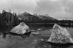 Jagged (JasonCameron) Tags: mountains scenic vista natural nature beauty wyoming grand tetons national park lake tagart black white bw monochrome