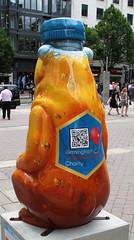 Honey Bear Honey Bottle Rear (ahisgett) Tags: birmingham children's hospital charity wild art big sleuth 2017 bearmingham bear