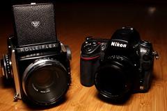 Size matters (mkk707) Tags: rolleiflexsl66 rolleiplanarf12880mmhft canoneos600d leicaelmaritr24mm nikond700 voigtländernokton50mmf15asph cameraporn