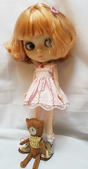 of the clothes i made for her i think i like  her in this dress the most  <3