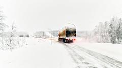 Arctic Highways (Valter Patrial) Tags: ártico arctic northern roads rodovias snow inverno transport truck transporte caminhão expedições fotográficas