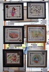 Disneyland Visit 2017-07-09 - Downtown Disney - WonderGround Gallery - Framed Sketches With Pins (drj1828) Tags: disneyland visit 2017 downtowndisney wondergroundgallery art artwork disney