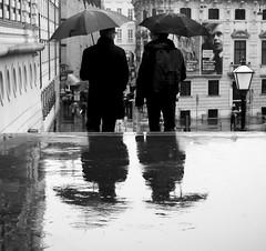 Rainy (CoolMcFlash) Tags: street streetphotography candid bnw bw blackandwhite blackwhite reflection rain rainy umbrella people men vienna canon eos 60d strase sw schwarzweis spiegelung regen regenschirm wien personen fotografie photography tamron b008 18270