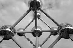 BXL (Gabriela Oravova) Tags: belgium brussels bruxelles brussel bw atomium canonpsg7x