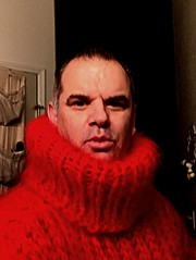 Red Mohair Turtleneck 2 (jeremyv3) Tags: knitted red extremeturtlenecks tanglescreations sweaterfetish sweaters sweater mohair turtlenecks turtleneck