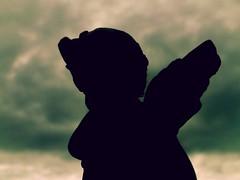 Guardian angel silhouette (babs van beieren) Tags: angel guardianangel romantic sky clouds silhouette macromonday