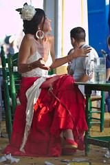 People at Feria del caballo (Lanzen) Tags: jerez feriadelcaballo feria festa party festival people traditional gipsy dress celebration festivity flower head hat flamenco woman red white table