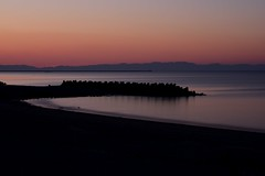 Futaminoura (Myajima) Tags: 日本 japon japan futaminoura plage beach mer sea coucherdesoleil sunset ombres shadows expositionlongue longexposure