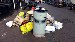 And All My Friends Have Turned To Dust (Eddy Allart) Tags: amsterdam street straat calle basura garbage eyes dark mood