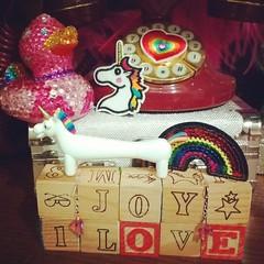 Happy Pride! (Georgie_grrl) Tags: unicorn pen rainbow patches blocks pride love joy onelove loveislove heart blingyduckie