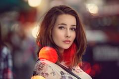 Ula_Red_Bokeh (chris panas) Tags: red beauty portrait beautiful model girl bokeh bokehlicious canon 7020028ii ambientlight soft wideopen dof london canon6d 200mm summer chrispanas