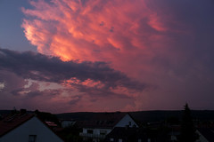 Storm Sunset (Alex v.M) Tags: storm clouds red romantic romance ringlight rock brown wiesbaden breckenheim hessen germany love enless edit ending deep depth tree travel amazing sunset