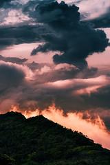 Cloud Stack (Atmospherics) Tags: kauai waimeacanyon sundown dusklight cloudstack duskcolour lowcloud lowlight atmospherics hawaiianlandscape