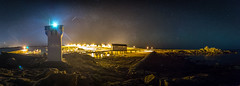 Trevignon (Pierre Coroller) Tags: trevignon bretagne finistere concarneau night nuit stars etoiles milkyway voie lactee port harbour phare lighthouse panormaic panorama long exposure pose longue sony a7r