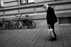Downwards (stefankamert) Tags: street bw baw bnw noir fuji x100 x100s man city blackandwhite mono