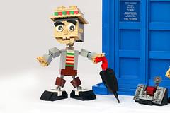 The Doctor (Frost Bricks) Tags: seventh doctor who sylvester mccoy ace professor tardis moc brickbuilt