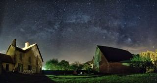 The Milky Way from the garden