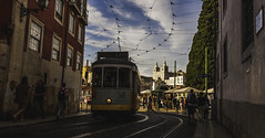 Alfama, Lisbon, Portugal. (Phil Maddison) Tags: alfama lisbon portugal lisboa tram trams street photography 2017 old town cities city lines canon eos 40d efs1022mm beauty capital scene wide angle