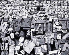 Movable Type (GSFC Photo Club) Tags: ac alangcarroll places stilllife washington bw printing technology tools movabletype type