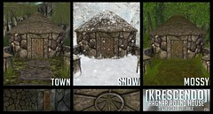 [Kres] Ragnar Round House ([krescendo]) Tags: tfc thefantasycollective fantasy roleplay gorean viking rp roundhouse medieval historical sl secondlife buildings decor kres krescendo