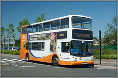 Travel de Courcey 810, Walsgrave (Jason 87030) Tags: dennis trident 810 spitfire grounds orange decker alx4000 mike decourcey travel transport 703 walsgrave route service bus midlands coventry june 2017 sony alpha a6000 ilce nex lens flickr tag lbv52hhw