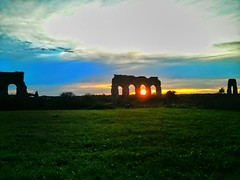 Parco degli acquedotti, Rome (Giuseppe 93) Tags: nature naturethebest magicmoment autofocus landscape bestlandscape landscapes bellaitalia italia italy clouds sky colors contrast composition green yellow season roma rome history monuments sun sunset summer perfettocomposition hd hdr