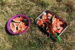 Día 3 . Almuerzo frutal a media mañana, la sandía es amiga