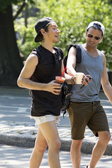 094A9900 v2 (Wheels Down) Tags: friends centralpark nyc candid streetphotography shorts shortshorts cap