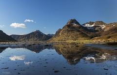 Kilan, Nordland, Norway (Paulo Calafate) Tags: canon5dmarkiv canonef2470mmf28liiusm norge noruega norway nordland norveige reflection mountain mounts blue sky kilan lofoten