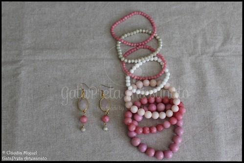 """Brincos e pulseiras """"Pink Lollita"""" (colecção Primavera-Verão 2017)"""
