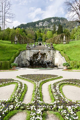 Linderhof Palace Bavaria (glasskunstler) Tags: linderhof castle palace bavaria gardens landscape germany fountains mountains grotto beauty border austria water mermen statues