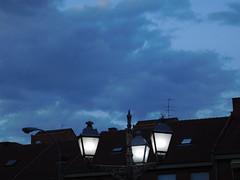 Light the way back home (pga_99) Tags: outdoor exterior león españa spain ciudad city house houses streetlight farolas farola lampadaire cloudy cloud clouds nublado nube nubes night noche nuit