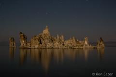 Reflection (Ken Eaton) Tags: 395 landscape longexposure monolake night nightphotography sierras lake stars tufa