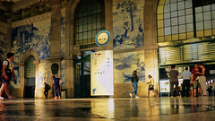 your heart (*silviaON) Tags: station city porto portugal people caminhoportuguês sãobento textured flypaper