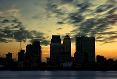 Docklands at Dusk (PeskyMesky) Tags: london docklands isleofdogs riverthames le longexposure sunset sunrise architecture canarywharf