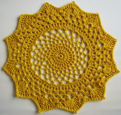 CROCHET DOILY (Patchwork Daily Desire) Tags: manadala crochet crafts yarn yellow hook spring patchworkdailydesire