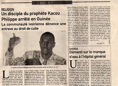 #PERSECUTION #CHRETIENNE EN #guinée-n #CONAKRY L' #Apôtre Israël Gomy #emprisonné.  https://youtu.be/s0BssILZUIQ #ProphetKacouPhilippe #Civ Les cas de violations des droits à la liberté de croyance, de culte et d'expression en vers les disciples du Prophè (k_airv) Tags: guinée civ apôtre conakry chretienne emprisonné prophetkacouphilippe persecution