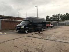 Mercedes Sprinter 316 CDI XLWB (Paul.Bevan) Tags: mercedesbenz dodge sprinter xlwb 316 cdi uk 2017 cavansiteblue courier lighthaulage delivery freight transport expressdelivery outdoors brabus superhighroof greysky fordtransit dropside speedy