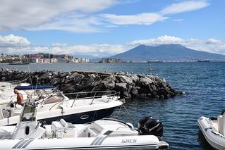 Vesuvius From The Marina, Naples