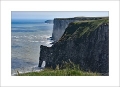 Bempton Cliffs RSPB (prendergasttony) Tags: bempton cliffs outdoor nature chalk nikon d7200 landscape flamborough yorkshire england sea water blue sky grass rspb birdwatching filey coast shore waves surf border birds rocks classic postcard scenic picturesque crag precipice rockface shoreline scenery geography